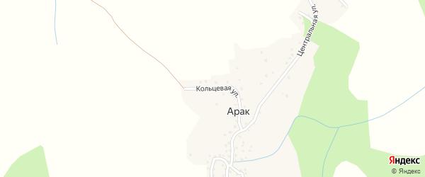 Кольцевая улица на карте села Арака Дагестана с номерами домов