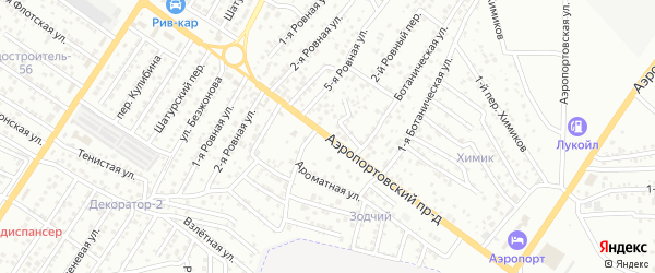 Аэропортовский проезд на карте Астрахани с номерами домов