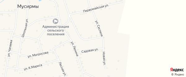 Восточная улица на карте села Мусирмы с номерами домов