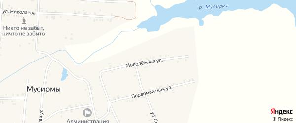 Молодежная улица на карте села Мусирмы с номерами домов