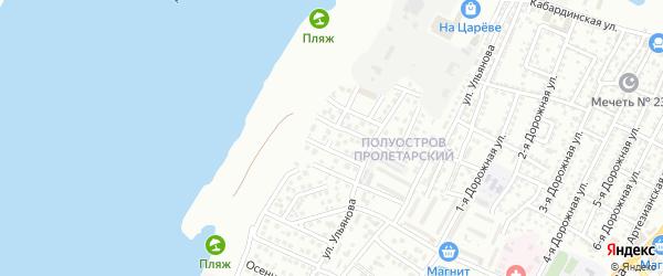 Ивановская 3-я улица на карте Астрахани с номерами домов