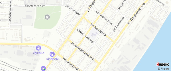 Самарский переулок на карте Астрахани с номерами домов