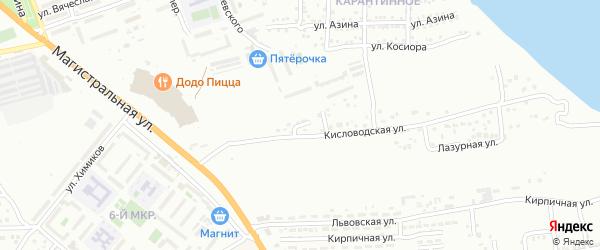 Улица Серова на карте Астрахани с номерами домов