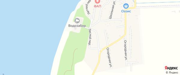 Лесной переулок на карте поселка Караагаша с номерами домов