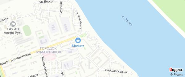Улица Багрицкого на карте Астрахани с номерами домов