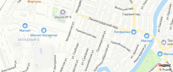 Волгоградская улица на карте Астрахани с номерами домов