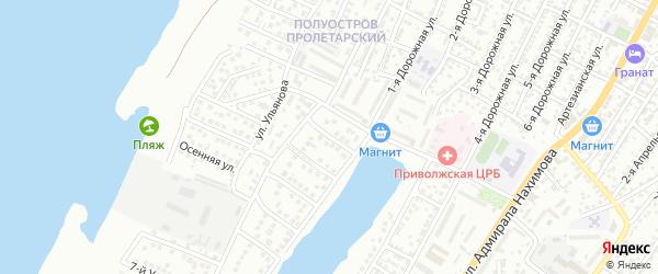 Ульяновский 1-й переулок на карте Астрахани с номерами домов