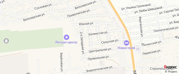 Западная улица на карте Астрахани с номерами домов