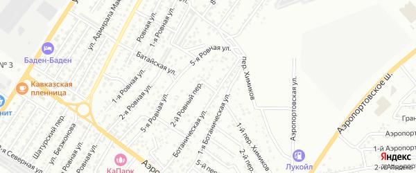 Персиковый 1-й переулок на карте Астрахани с номерами домов