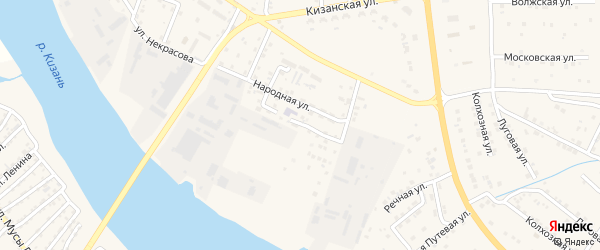 Заводская улица на карте села Карагали Астраханской области с номерами домов