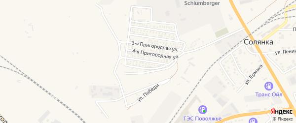 5-я Пригородная улица на карте села Солянки Астраханской области с номерами домов