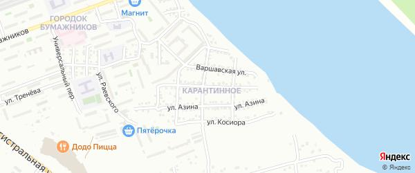Прибрежная улица на карте Астрахани с номерами домов