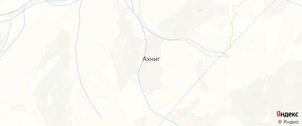 Карта села Ахнига в Дагестане с улицами и номерами домов
