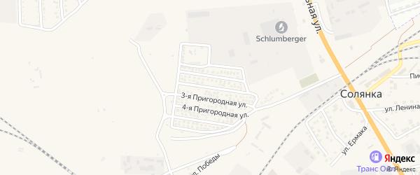 2-ая Пригородная улица на карте села Солянки Астраханской области с номерами домов