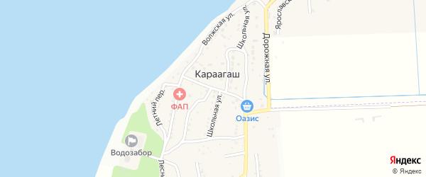 Улица Победы на карте поселка Караагаша с номерами домов