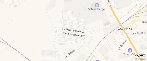 3-я Пригородная улица на карте села Солянки Астраханской области с номерами домов