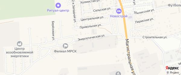 Энергетическая улица на карте села Солянки Астраханской области с номерами домов