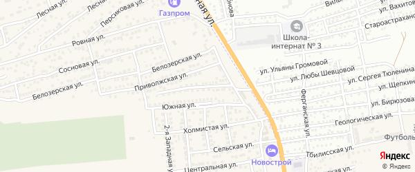 Столбовая улица на карте села Солянки Астраханской области с номерами домов