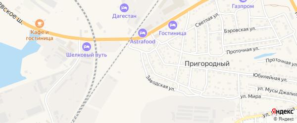 Казанская улица на карте Пригородного поселка с номерами домов