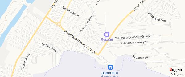 Садовое товарищество Химик на карте Астрахани с номерами домов