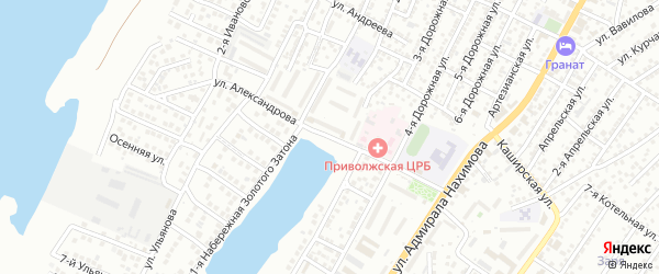 Улица Александрова на карте Астрахани с номерами домов