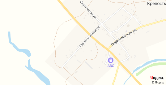 Революционная улица в селе Крепость Узень в Саратовской области с номерами домов на карте. Спутник и схема онлайн