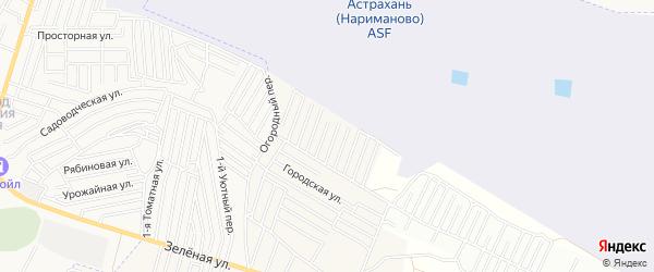 Садовое товарищество сдт Лайнер на карте села Карагали Астраханской области с номерами домов