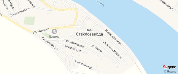Бугровая улица на карте поселка Стеклозавода Астраханской области с номерами домов