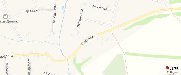 Садовая улица на карте деревни Старые Урмары с номерами домов