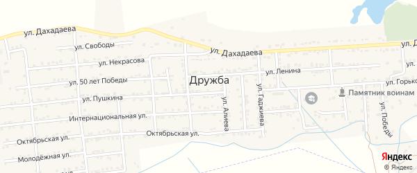Улица Лермонтова на карте села Дружбы с номерами домов