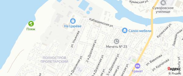 Переулок Кулахметова на карте Астрахани с номерами домов