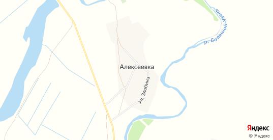 Карта поселка Алексеевка в Саратовской области с улицами, домами и почтовыми отделениями со спутника онлайн