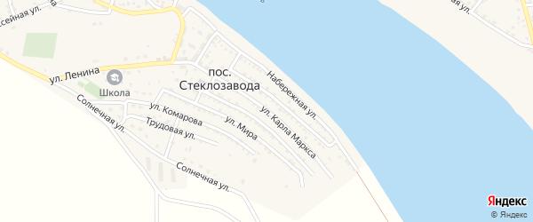 Улица Карла Маркса на карте поселка Стеклозавода Астраханской области с номерами домов