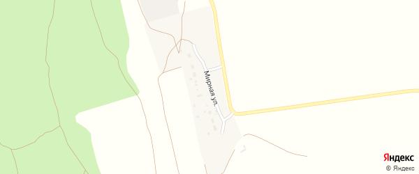Мирная улица на карте поселка Караагаша Астраханской области с номерами домов