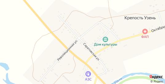 Саратовская улица в селе Крепость Узень в Саратовской области с номерами домов на карте. Спутник и схема онлайн