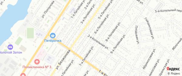 Литейная 6-я улица на карте Астрахани с номерами домов