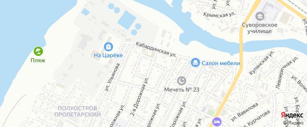 Клубный переулок на карте Астрахани с номерами домов