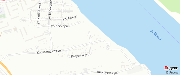 Правобережная улица на карте Астрахани с номерами домов