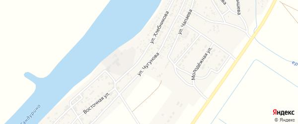 Улица Чугунова на карте села Образцово-Травино с номерами домов