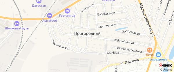 Казанский переулок на карте Пригородного поселка с номерами домов