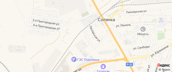 Улица Каверина на карте села Солянки Астраханской области с номерами домов