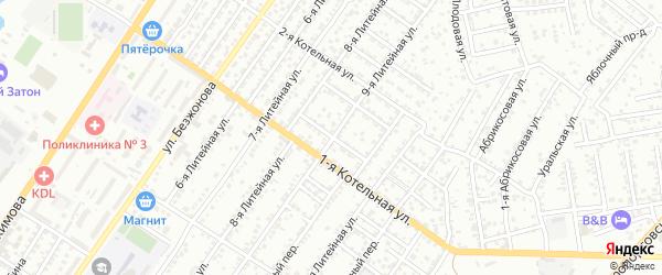 Вязовский 8-й переулок на карте Астрахани с номерами домов