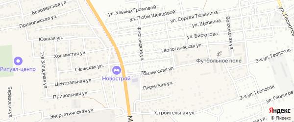 Улица Чичерина на карте Астрахани с номерами домов