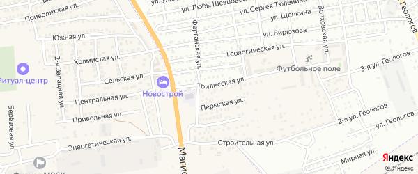 Тбилисская улица на карте Астрахани с номерами домов