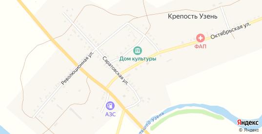 Первомайская улица в селе Крепость Узень в Саратовской области с номерами домов на карте. Спутник и схема онлайн