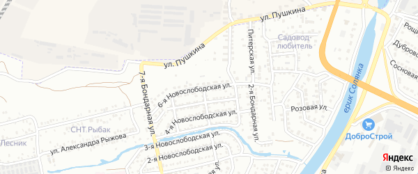 6-я Новослободская улица на карте Астрахани с номерами домов