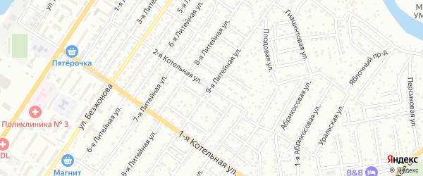 Котельная 2-я улица на карте Астрахани с номерами домов