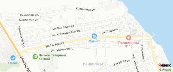 Почтовый переулок на карте Астрахани с номерами домов