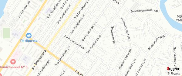 Вязовский 5-й переулок на карте Астрахани с номерами домов
