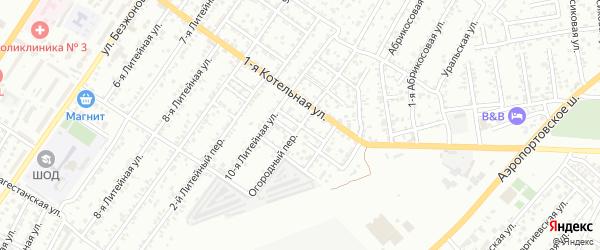 Котельный переулок на карте Астрахани с номерами домов